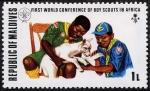 Sellos de Asia - Maldivas -  Boy Scouts