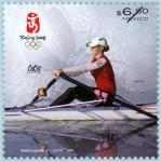 sellos de America - México -  Juegos Olimpico Beijing Remo
