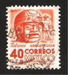 Sellos del Mundo : America : México :  arqueologia, tabasco