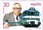 sellos de Europa - España -  Tren Talgo. Centenario del nacimiento de Alejandro Goicoechea