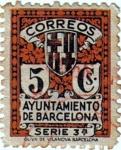 Stamps Europe - Spain -  Barcelona. Escudo de la ciudad 1932