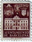 Sellos de Europa - España -  Barcelona. Fachada del ayuntamiento 1942