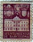 Stamps Spain -  Barcelona. Fachada del ayuntamiento 1942