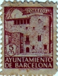 Stamps Spain -  Barcelona. Casa Padellás 1943