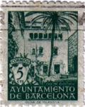 Stamps Spain -  Barcelona. Casa del Arcediano 1945