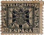 Stamps Europe - Spain -  Telegrafos. Escudo de España 1940