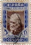 Stamps Spain -  Beneficencia. Pedagogos 1937