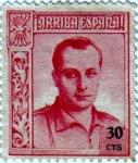Stamps Europe - Spain -  Beneficencia. José Antonio Primo de Rivera 1937