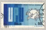 Stamps Italy -  Centenario union postal universal