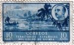 Stamps Africa - Guinea -  Paisajes y efigie del general Franco. Territorio Español del golfo de Guinea
