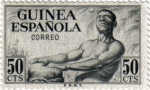 Stamps Africa - Guinea -  Indígena con