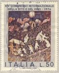 Sellos de Europa - Italia -  XIV congreso internacional de la viña y el vino