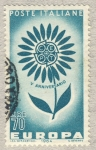 Stamps Italy -  Europa V anniversario