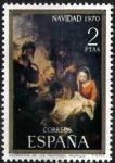 Sellos de Europa - España -  Navidad, 1970.Adoración de los Pastores( Murillo).