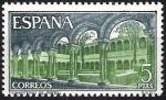Stamps Spain -  Monasterio de Santa María de Ripoll. Claustro.