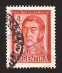 Stamps : America : Argentina :  general san martin