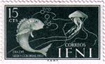 Sellos de Europa - Espa�a -  IFNI. D�a del sello 1953 peces
