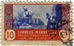 Sellos del Mundo : Africa : Marruecos : Protectorado Español en Marruecos. Artesanía 1946