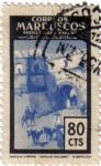 Stamps Morocco -  Protectorado Español en Marruecos. Puertas típicas 1955