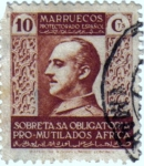 Stamps Africa - Morocco -  Beneficencia pro mutilados de guerra 1937