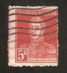 Stamps : America : Argentina :  general san martin
