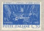Sellos de Europa - Italia -  Io sono la lampada ch'arde soave G.Pascoli