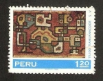 Sellos de America - Perú -  tejido tiahuanacoide