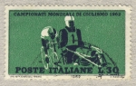 Stamps Italy -  Campeonato mundial de ciclismo 1962