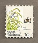 Sellos del Mundo : Asia : Malasia : Planta arroz