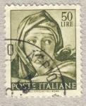 Sellos de Europa - Italia -  Michelangiolesca  Testa della sibilla delfica