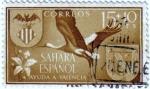 Stamps Spain -  Sahara Español. Ayuda a Valencia 1958