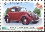 Sellos de America - Uruguay -  VEHICULOS ANTIGUOS