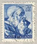 Sellos de Europa - Italia -  Michelangiolesca  Testa del profeta Zaccaria
