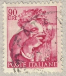 Sellos de Europa - Italia -  Michelangiolesca  Testa del profeta Geremia