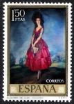 Stamps Spain -  Dia del Sello. Ignacio de Zuloaga. Duquesa de Alba.