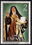 Sellos de Europa - España -  Centenario de celebridades. Santa Teresa.