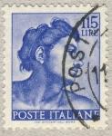 Sellos de Europa - Italia -  Michelangiolesca  Testa di ignudo