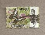 Stamps Malaysia -  Mariposa Parthenos sylvia