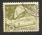 Stamps : Europe : Switzerland :  Tren cremallera