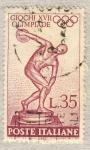 Stamps Europe - Italy -  Giochi della XVII Olimpiade  Discobolo di Mirone