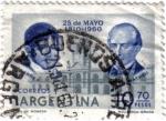 Sellos de America - Argentina -  25 de mayo 1810-1960