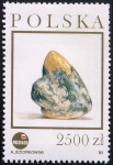 Stamps Poland -  Minerales