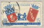 Sellos de Europa - Italia -  3º anniversario del gemellaggio Roma-Parigi lire 15  9 aprile 1959