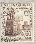 Stamps Italy -  40º anniversario dell'organizzazione internazionale del lavoro