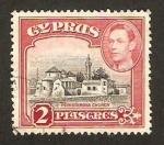 Sellos de Asia - Chipre -  iglesia de peristerona, george VI