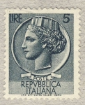 Sellos de Europa - Italia -  Antica moneta siracusana