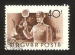 Stamps Hungary -  Jefe de Estación de tren
