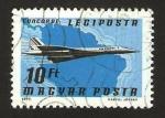 Stamps Hungary -  Avión Concorde