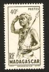Stamps : Africa : Madagascar :  302 - bailarín del sur