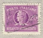 Sellos de Europa - Italia -  Italia turrita   Recapito autorizzato